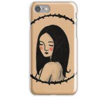 Black hair iPhone Case/Skin
