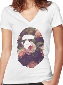 BAPE Floral Women's Fitted V-Neck T-Shirt