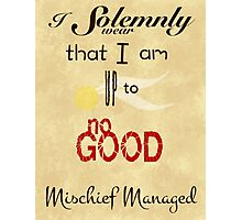 I Solemnly Swear that I am up to no Good Photographic Print