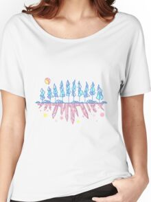 Geometric Crystal Forest and Gemstones Women's Relaxed Fit T-Shirt