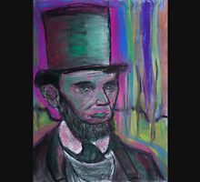 psychedelic president  Abraham Lincoln with stovepipe hat  and pink halo Unisex T-Shirt