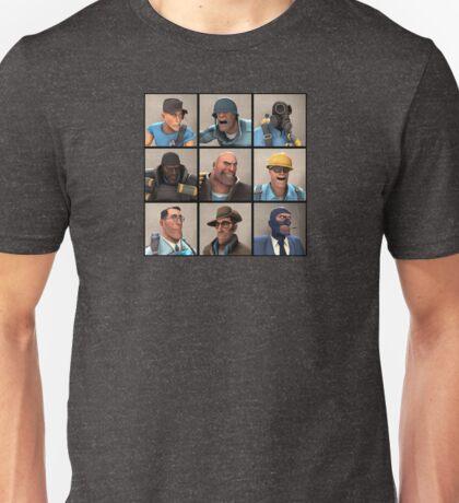 TF2 Blu Team Portraits Unisex T-Shirt
