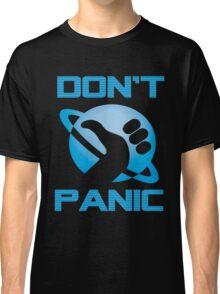 Dont Panic Hitchiker Guide to galaxy Classic T-Shirt