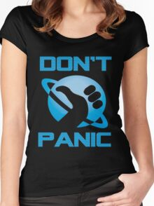 Dont Panic Hitchiker Guide to galaxy Women's Fitted Scoop T-Shirt