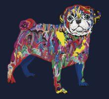 Pug dog graffiti One Piece - Short Sleeve