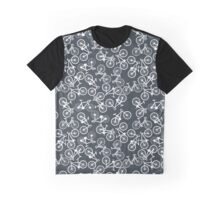Bikes- Blue and White Graphic T-Shirt