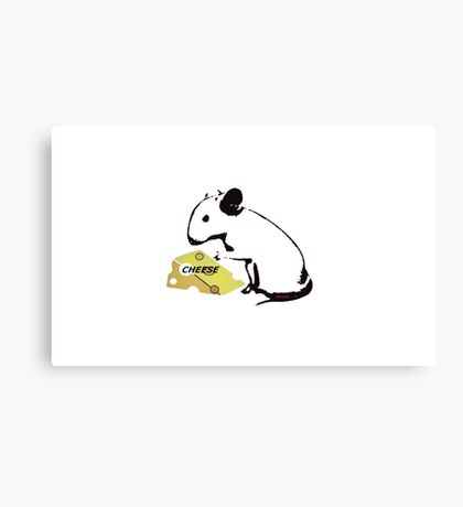 Mouse and Cheese Canvas Print