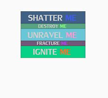 Shatter Me Book Spines Unisex T-Shirt