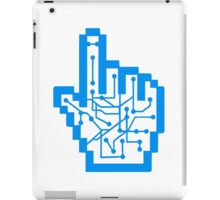 Show mouse hand click computer pc online circuitry pointer arrow control online vote electronically pattern iPad Case/Skin