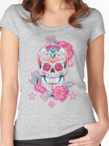 Life is strange Max skull, transparent Women's Fitted Scoop T-Shirt