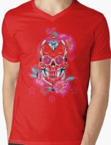 Life is strange Max skull, transparent Mens V-Neck T-Shirt
