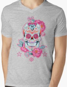 Life is strange Max skull, transparent Mens V-Neck T-Shirt
