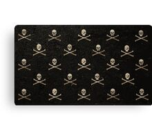 Skulls & Crossbones - Black Canvas Print