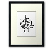 Show mouse hand click computer pc online circuitry pointer arrow control select online electronically Framed Print