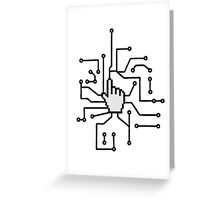 Show mouse hand click computer pc online circuitry pointer arrow control select online electronically Greeting Card