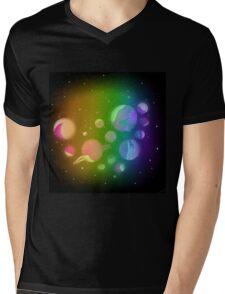 Space dino Mens V-Neck T-Shirt