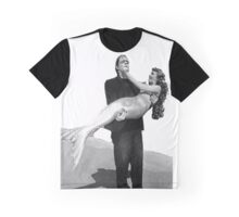 Frankenstein holding  mermaid Graphic T-Shirt