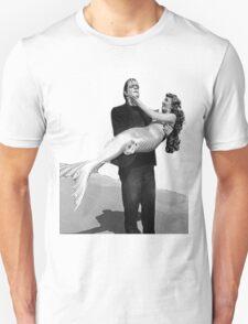 Frankenstein holding  mermaid Unisex T-Shirt