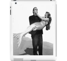 Frankenstein holding  mermaid iPad Case/Skin