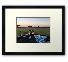 Nike's in a Field Framed Print