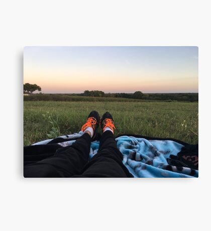 Nike's in a Field Canvas Print