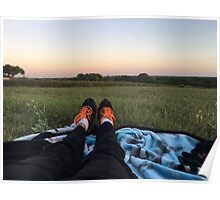 Nike's in a Field Poster
