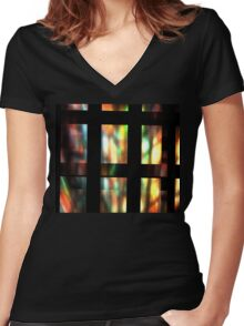 Glass Women's Fitted V-Neck T-Shirt