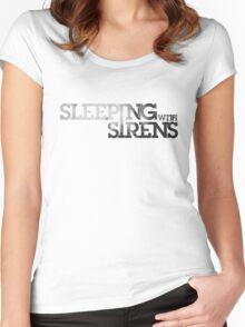 Sleeping w/ Sirens Logo (W) Women's Fitted Scoop T-Shirt
