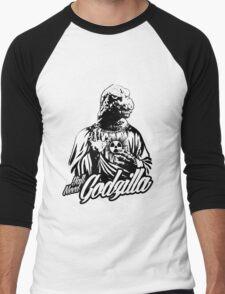 GODzilla is my savior. Men's Baseball ¾ T-Shirt