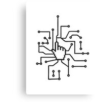 Show mouse hand click computer pc online circuitry pointer arrow control select online electronically Canvas Print
