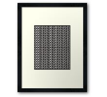 Binary Framed Print