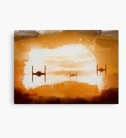 Tie Sunset Canvas Print