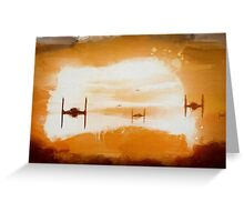Tie Sunset Greeting Card