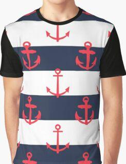Nautical Anchor Print Graphic T-Shirt