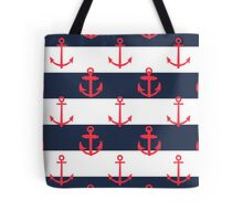 Nautical Anchor Print Tote Bag
