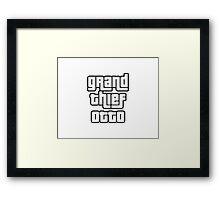 Grand Thief Otto / Grand Theft Auto Framed Print