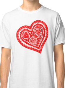 Valentine Heart 10 Red  Classic T-Shirt