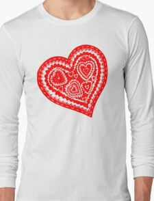 Valentine Heart 10 Red  Long Sleeve T-Shirt