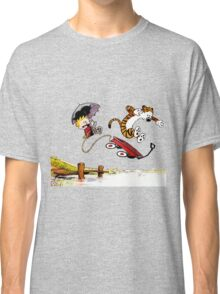 Calvin And Hobbes Jumping Classic T-Shirt