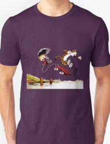 Calvin And Hobbes Jumping Unisex T-Shirt