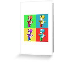 Yoshi ala Warhol Greeting Card
