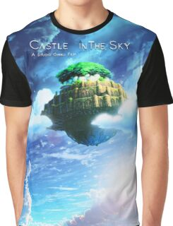 Castle In the Sky Poster Graphic T-Shirt