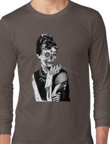zombies audrey hepburn evil dead zombie Long Sleeve T-Shirt