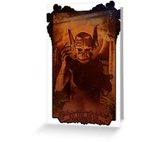 XV THE DEVIL Greeting Card