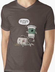 Move Over Decaf Mens V-Neck T-Shirt