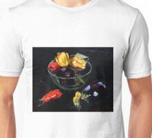 beautiful vegetables on black     Unisex T-Shirt