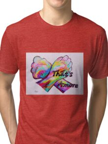 American Sign Language - That's Amore! Tri-blend T-Shirt