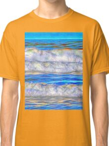 Abstract beautiful ocean waves Classic T-Shirt
