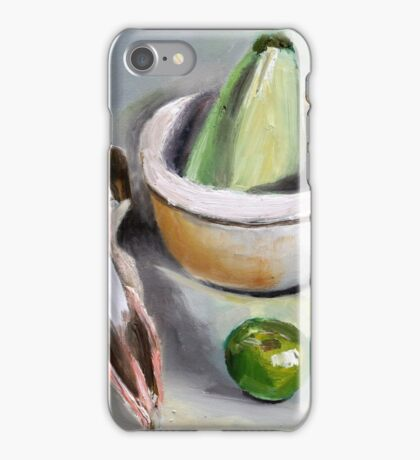 Sheep`s bowl apple and zucchini  iPhone Case/Skin