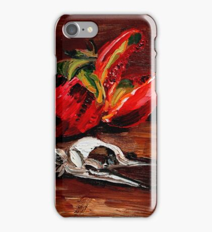 penguin and pomegranate  iPhone Case/Skin
